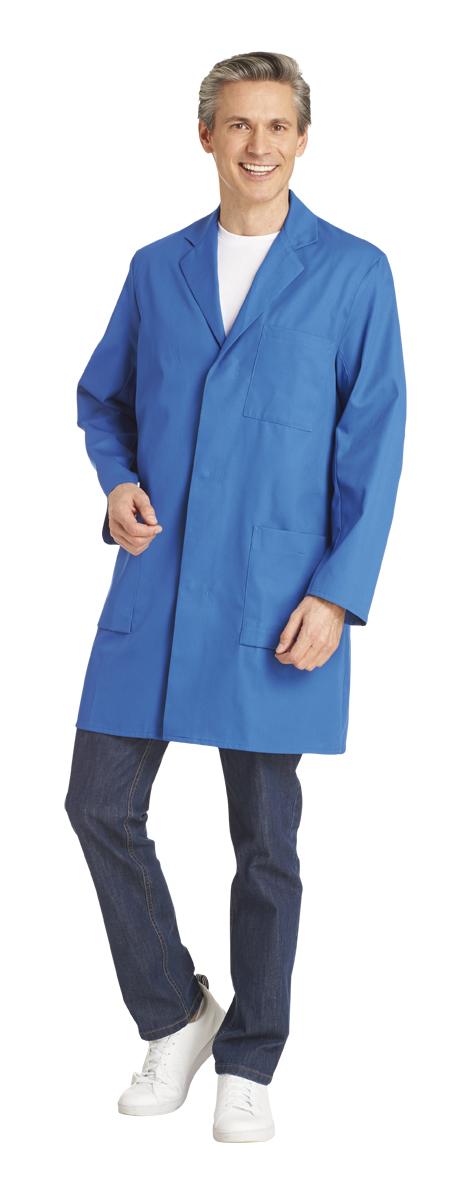 LEIBER Jobwear, Herren Arbeits Mantel, Berufsmantel, Kittel, 11 Arm, weiß