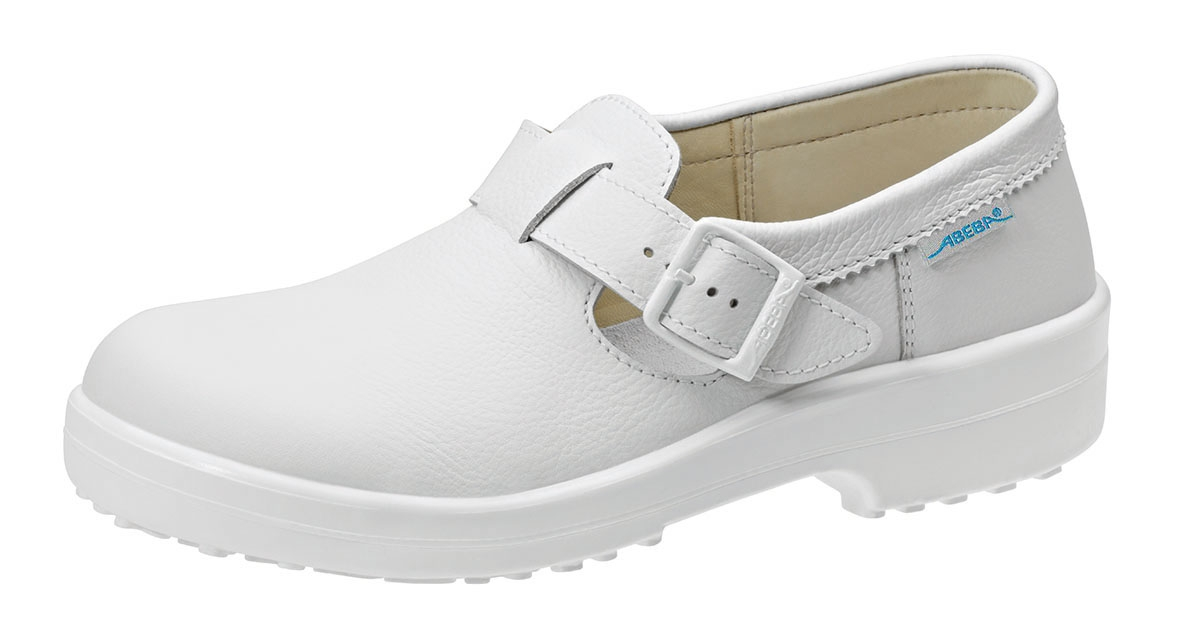ABEBA Withe Line, S2 Damen u. Herren Sicherheits Arbeits Berufs Schuhe, Halbschuhe, weiß
