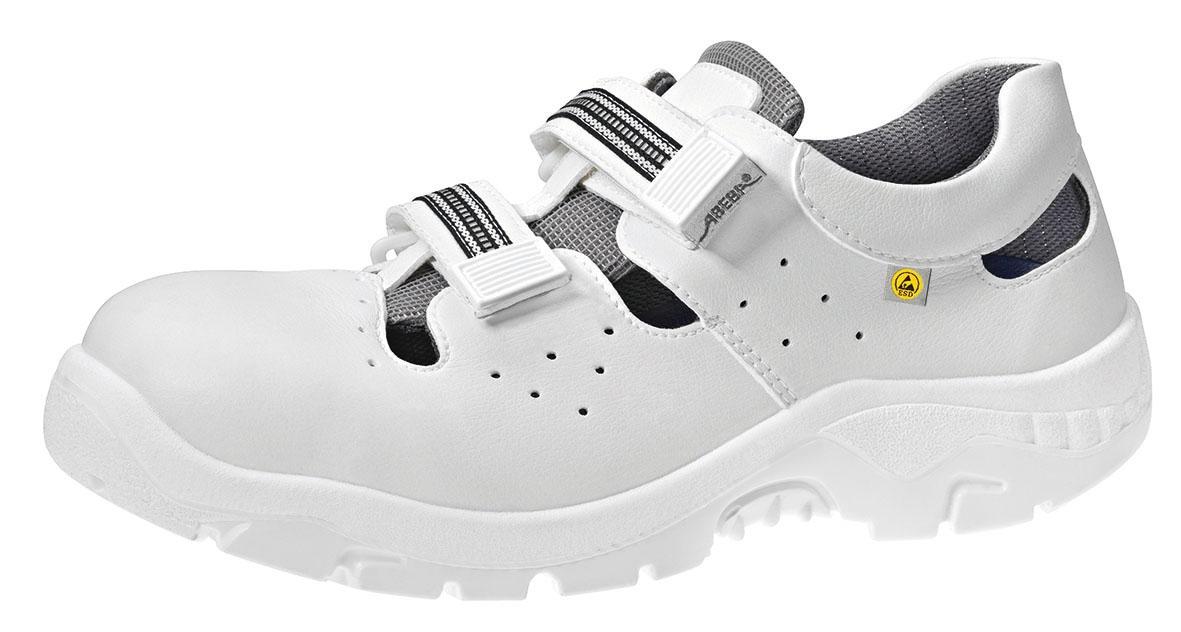 separation shoes 0b5e8 c92bc ABEBA-Withe-Line, S1-Damen- u. Herren-Sicherheits-Arbeits-Berufs-Sandale,  weiß