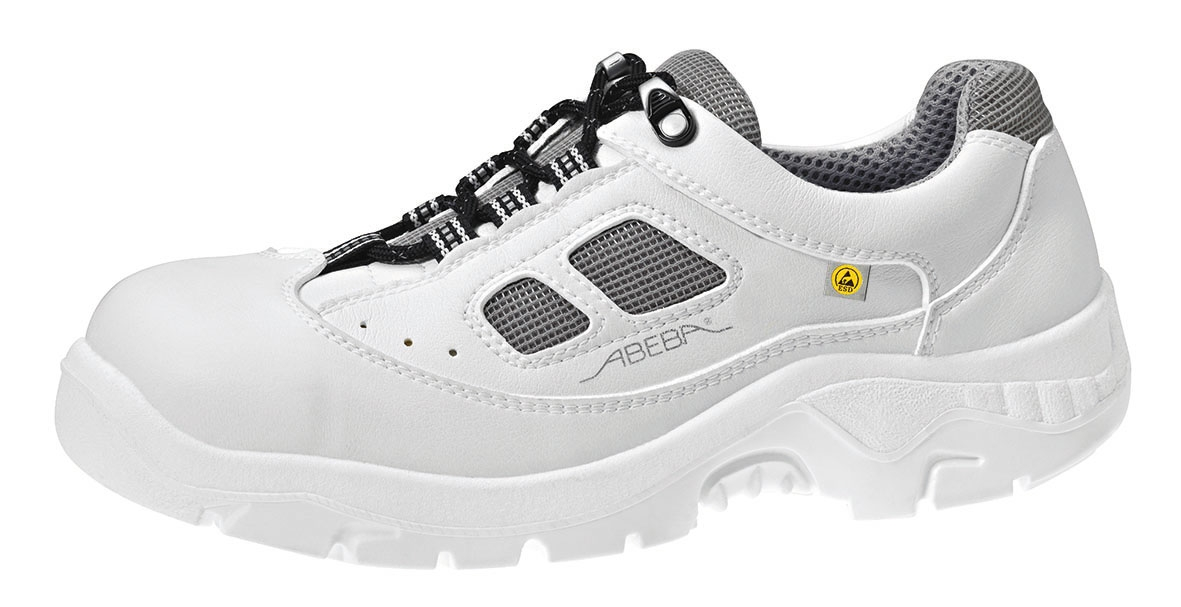 promo code 00ade de7ce ABEBA-Withe-Line, S1-Damen- u. Herren-Sicherheits-Arbeits-Berufs-Schuhe,  Halbschuhe, weiß