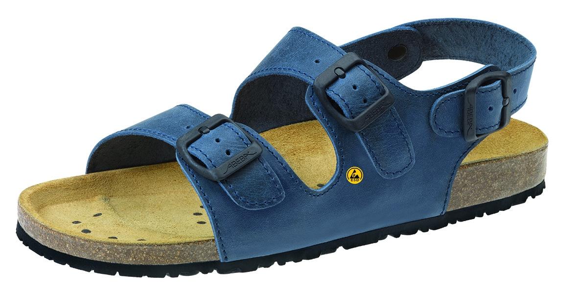 newest 3725f ecc05 ABEBA-Footwear, OB-Damen- u. Herren-Arbeits-Berufs-Sandalen, ESD, blau