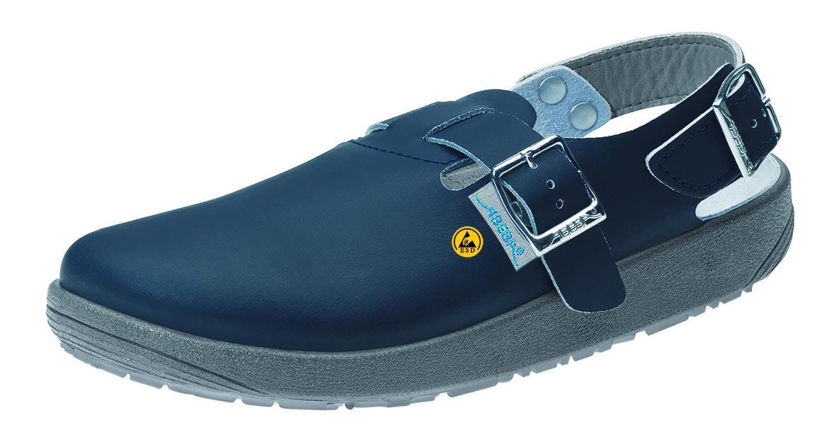 BIRKENSTOCK Footwear, Leder Pantoletten, hinten mit Riemen, Tokio, (061154), blau