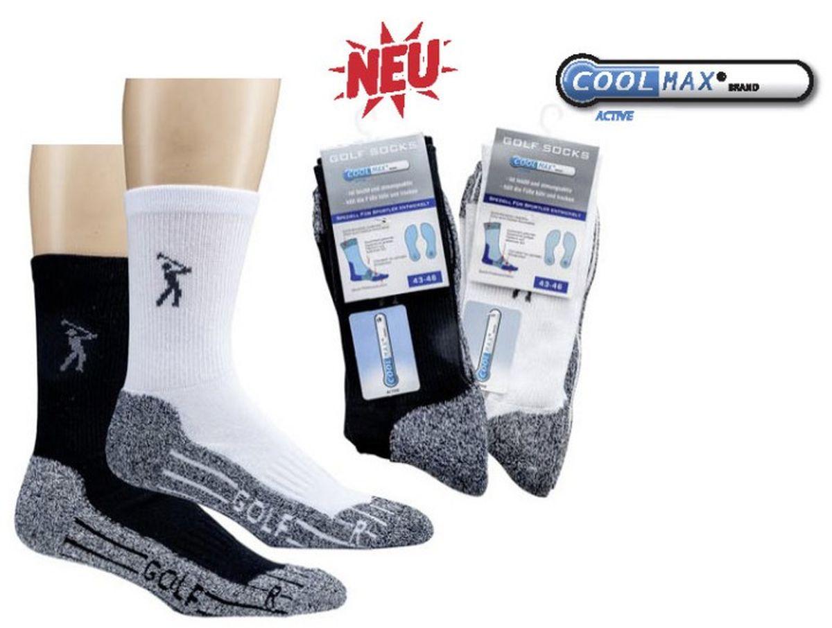 2076e235f58469 WOWERAT-Jobwear, COOLMAX-Golf-Socken, Funktions-Sportsocken, schwarz